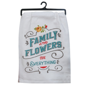 "Country Fresh ""Family & Flowers"" Flour Sack"