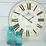 """Country Cottage"" Large Round Wall Clock"