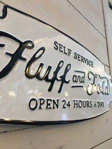 Laundy- Fluff and Fold Metal Sign