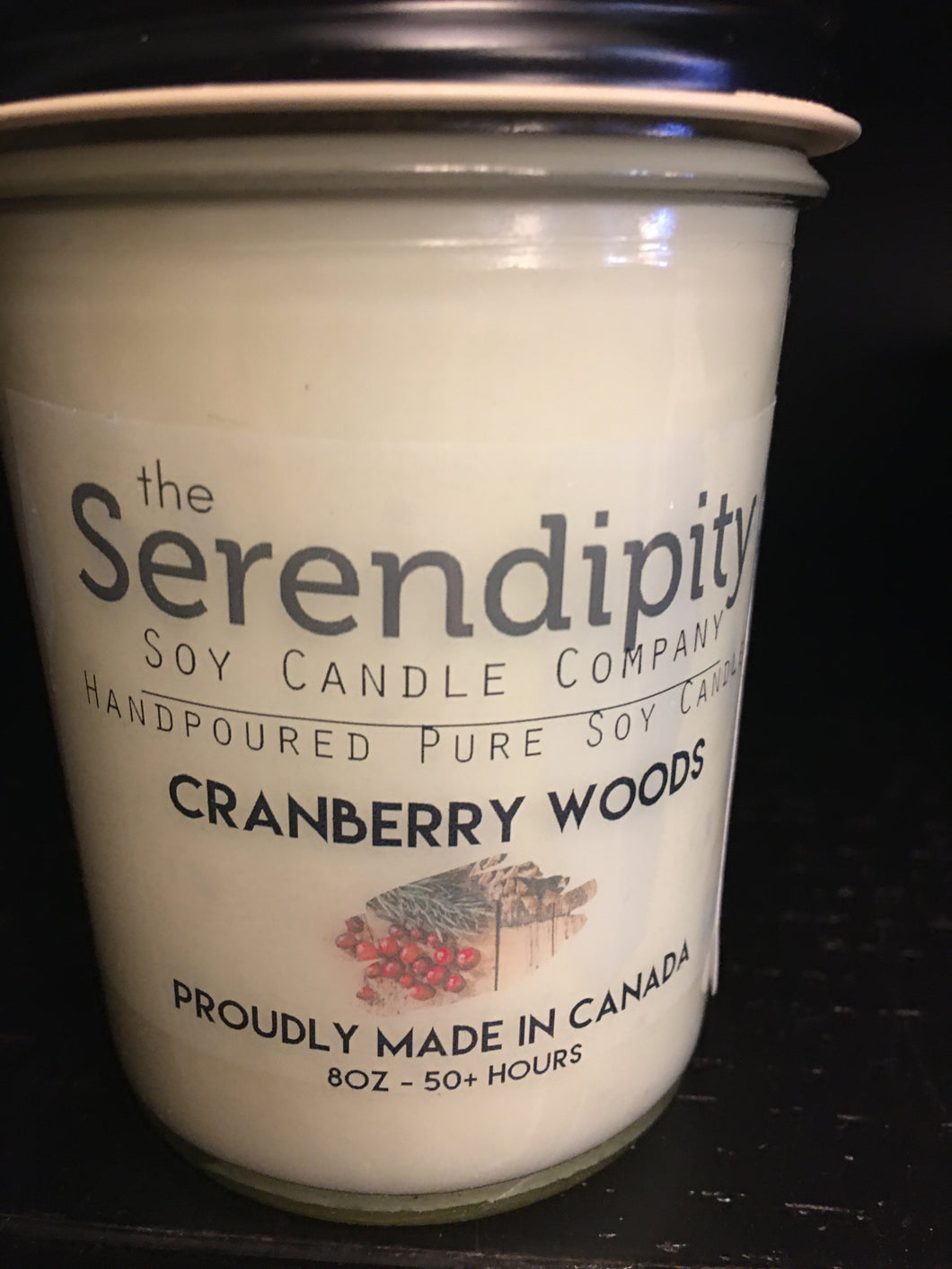Cranberry  Woods Scent 8oz soy candle