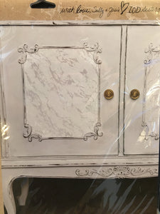 Stamp - Carrara Marble
