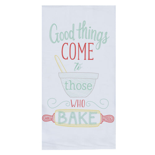 Good Things Come to Those Who Bake Embroidered Flour Sack