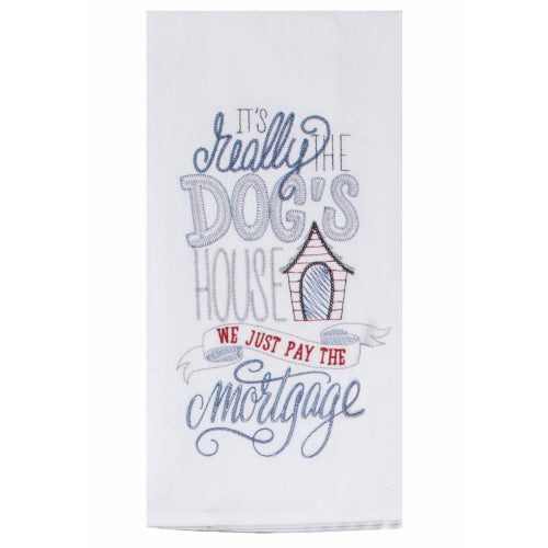 Wags Dog's House Embroidered Flour Sack