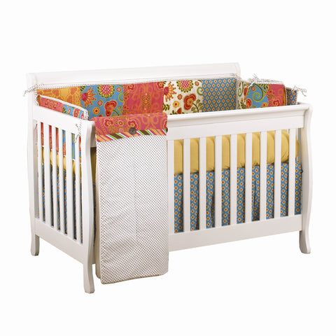 Convertible Crib with Baby Bedding Set