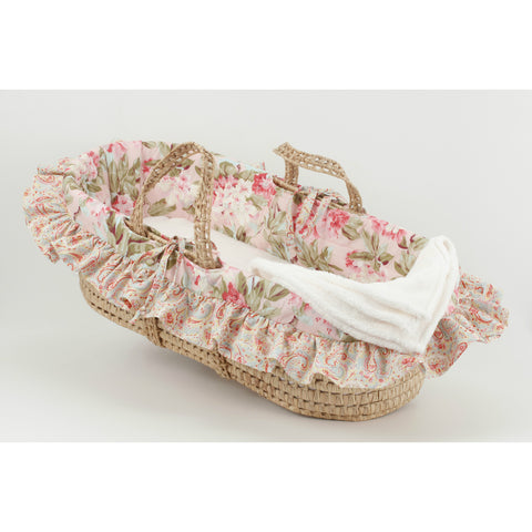 Tea Party Pink Floral Moses Basket