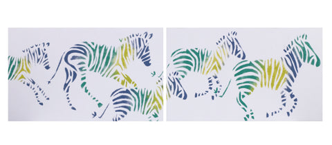 Zebra Romp Wall Art