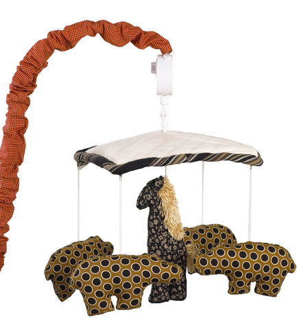 Animal Stackers Red Musical Mobile