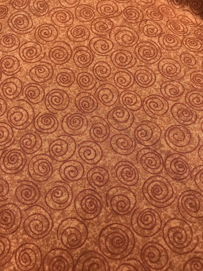 Brown Swirl Fabric - 3 yds.