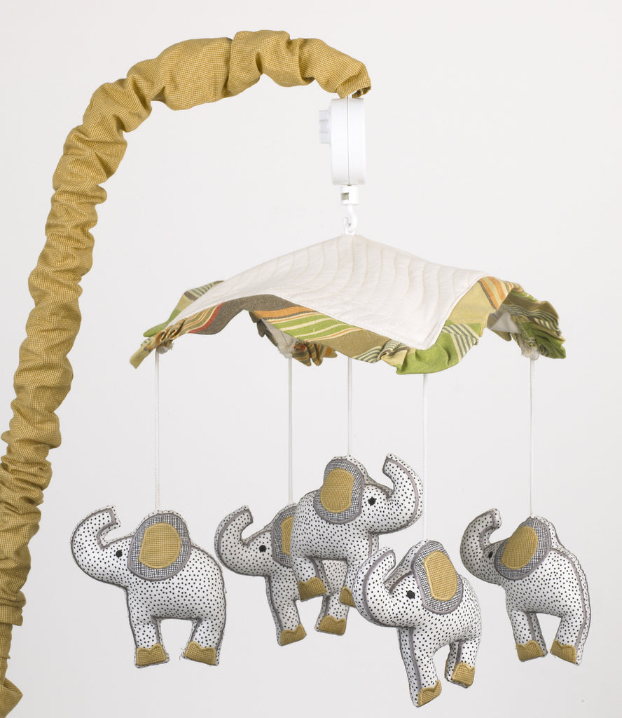 Cotton Tale Designs Elephant Brigade Musical Mobile