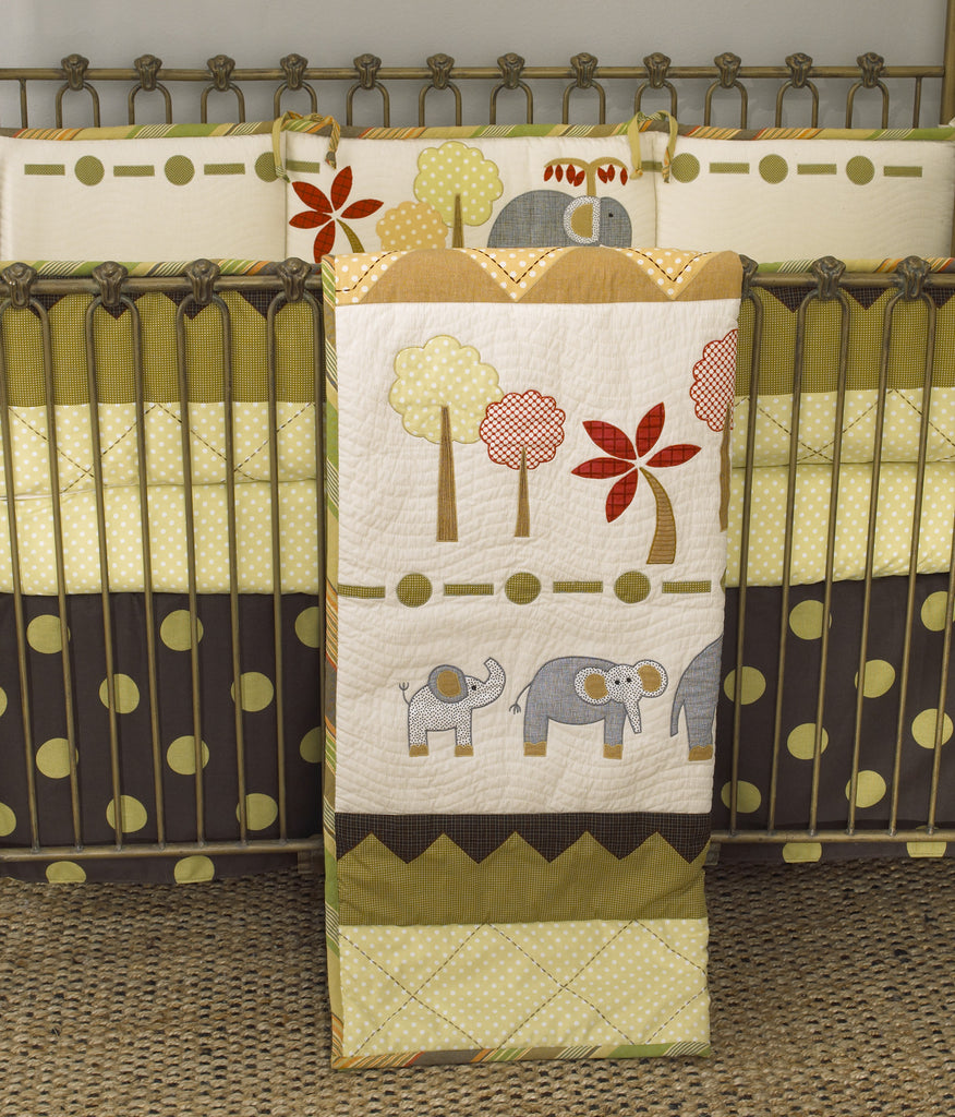 Elephant Brigade 4pc crib bedding set