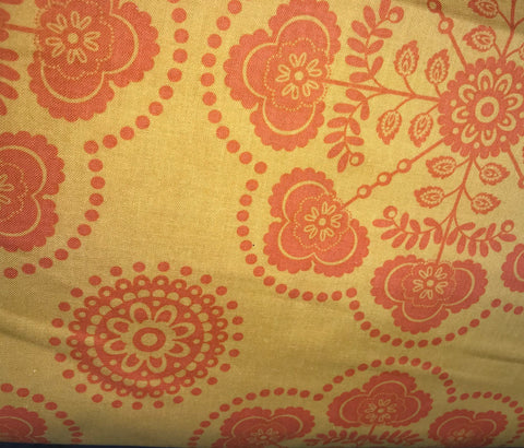 Gypsy Orange Floral Fabric - 3 yds