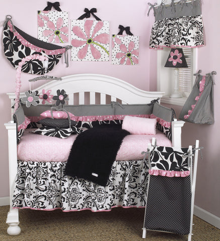 Pink Crib Set 7PC Girly Collection