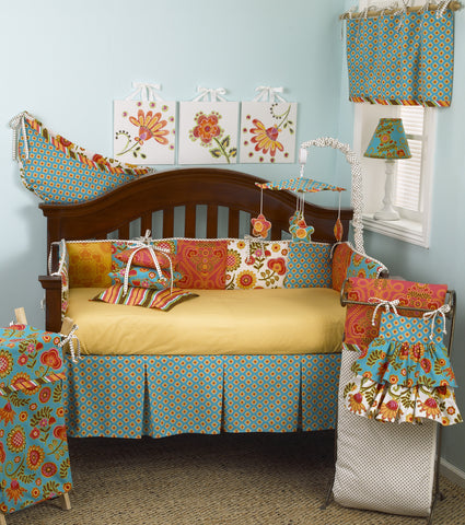 Gypsy 7PC Floral Crib Bedding