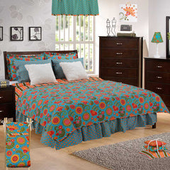 Gypsy Floral 8 Piece Reversible Queen Quilt Bedding Set