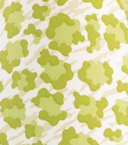 Here Kitty Kitty Green Leapard Animal Print Fabric - 3yds