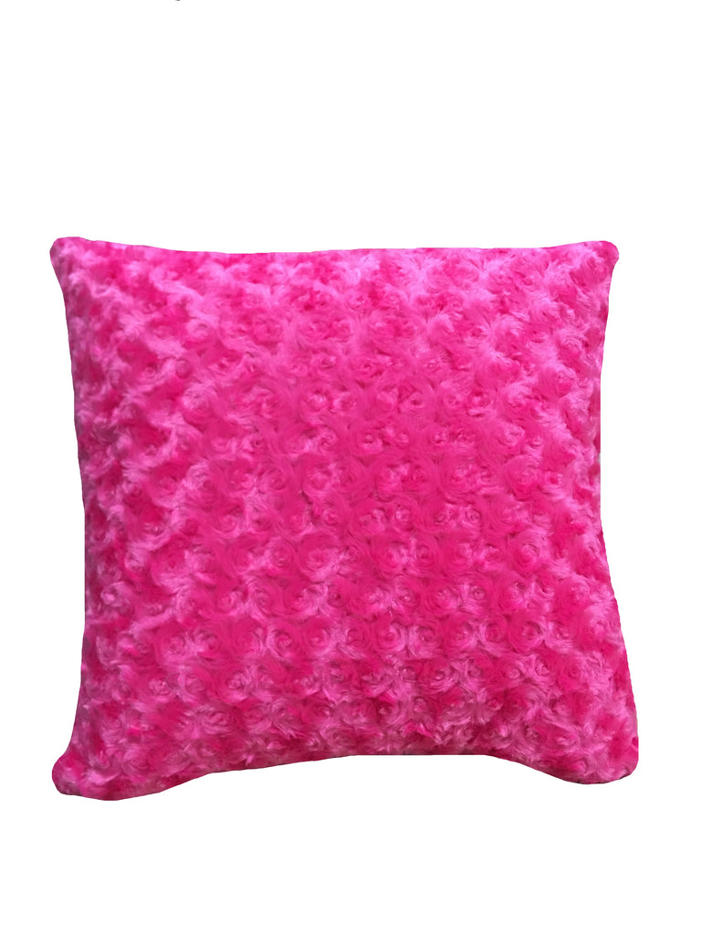 Hottsie Dottsie Decor Pillow Hot Pink Fur