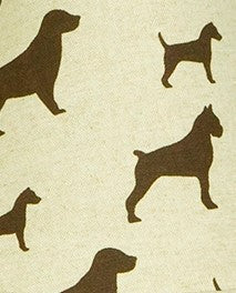 Houndstooth Dog Printed Pattern Fabric - 3 yds.