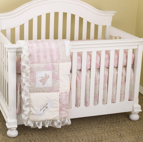 Heaven Sent Girl 3pc Crib Bedding Set