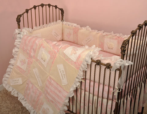 Heaven Sent Girl 4pc Crib Bedding Set