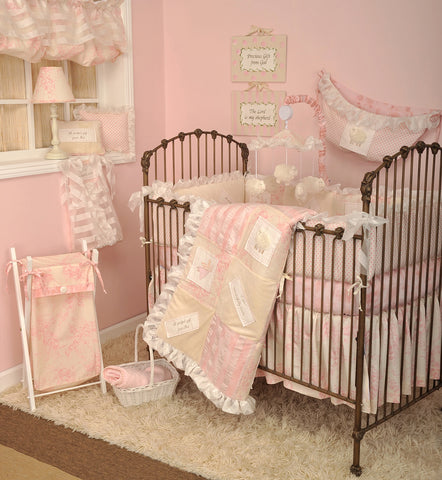 Heaven Sent Girl 7pc Crib Bedding Set