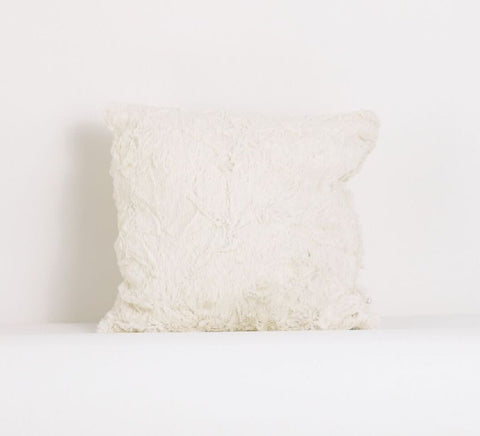 Heaven Sent Girl Faux Fur Decor Pillow
