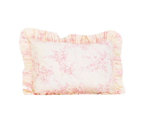 Heaven Sent Girl Pink Floral Pillow Sham