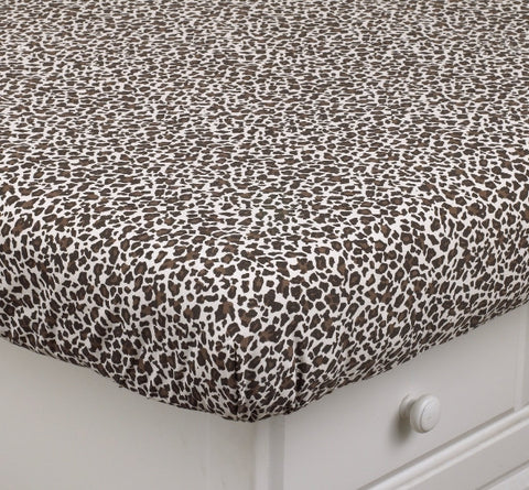 Crib Sheet Leopard Here Kitty Collection