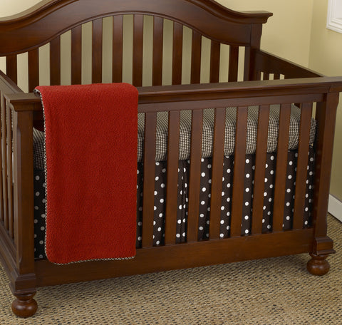 Houndstooth 3pc Crib Bedding Set