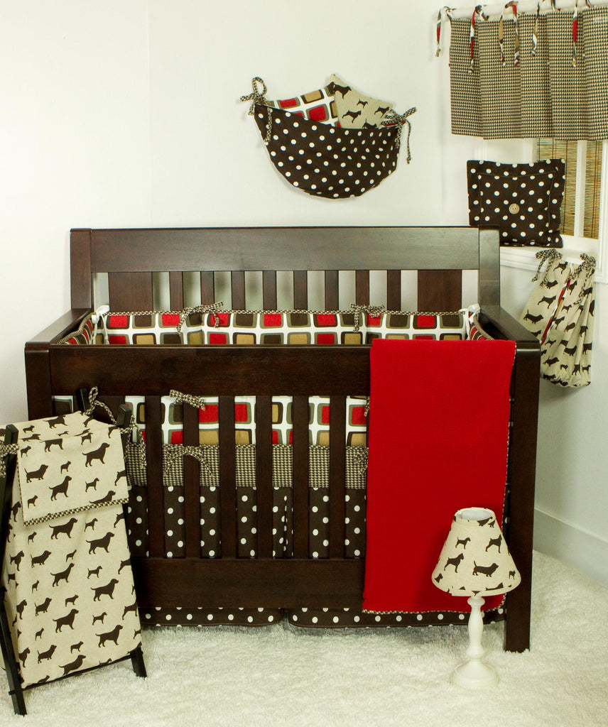 Cotton Tale Designs Houndstooth 7pc crib bedding set
