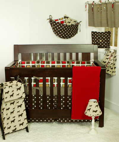 Houndstooth 8pc Crib Bedding Set