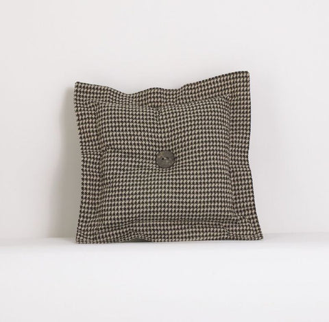Houndstooth Brown Decor Pillow