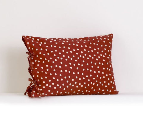 Houndstooth Plain Pillow Case w/Ties