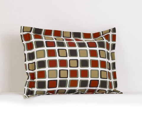 Houndstooth Flange Pillow Sham