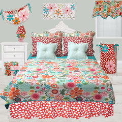 Floral Full/Queen Bedding Set Lizzie Collection