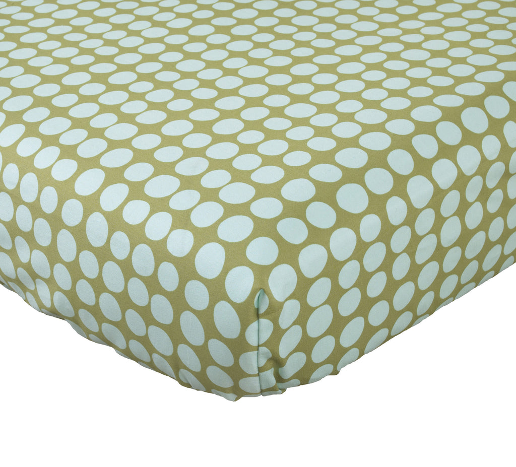 Dot Crib Sheet Lagoon Collection