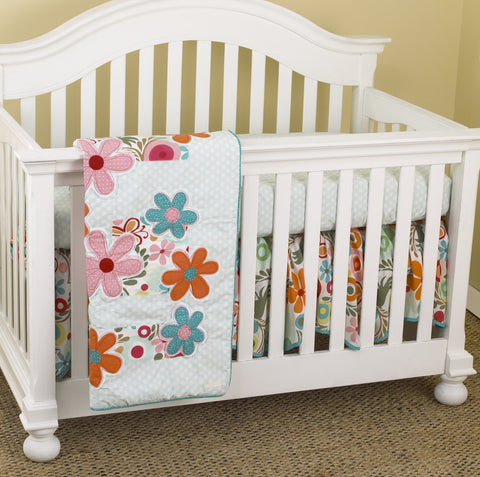 Floral 3pc Crib Bedding Set Lizzie Collection