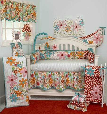 Floral 7pc Crib Bedding Set Lizzie Collection