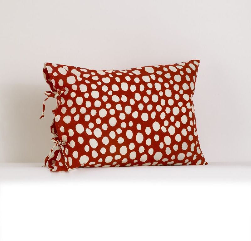 Red and White Dot Pillow Case Lizzie Collection