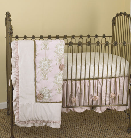Lollipops & Roses 3pc Crib Bedding Set
