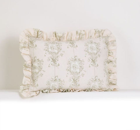 Lollipops & Roses Ruffled Pillow Sham