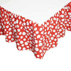 Red and White Full Dust Ruffle Lizzie Collection