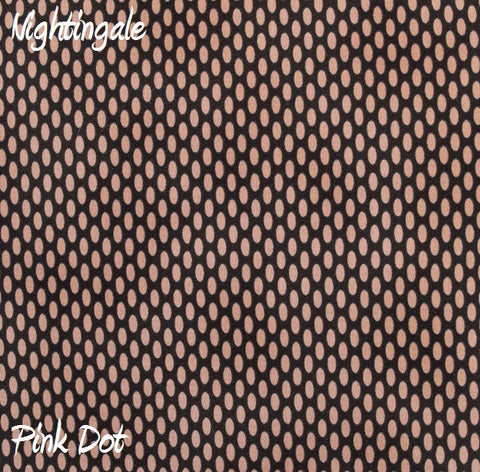 Nightingale Pink Dot Fabric - 3yds.