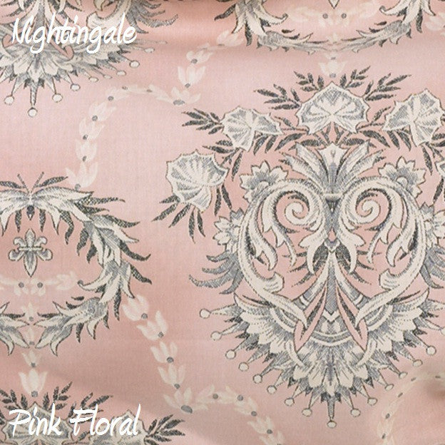 Nightingale Pink Background Flower Fabric - 3yds.