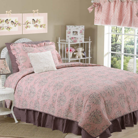 Nightingale Floral 8 PC Full Bedding Set