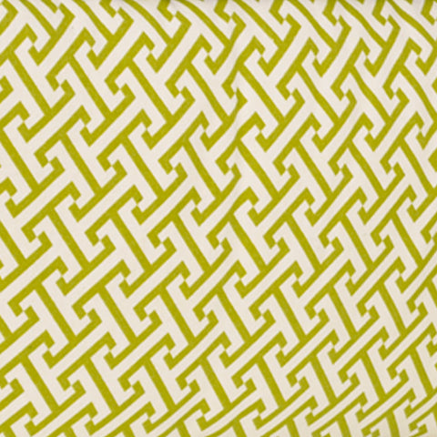 Periwinkle Green Geometric/Garden Lattice Pattern Fabric - 3yds.