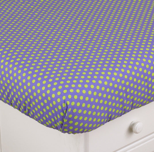 Cotton Tale Designs Periwinkle Fitted Crib Sheet