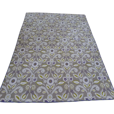 Floral & Dot Periwinkle Full/Queen Reversible Quilt