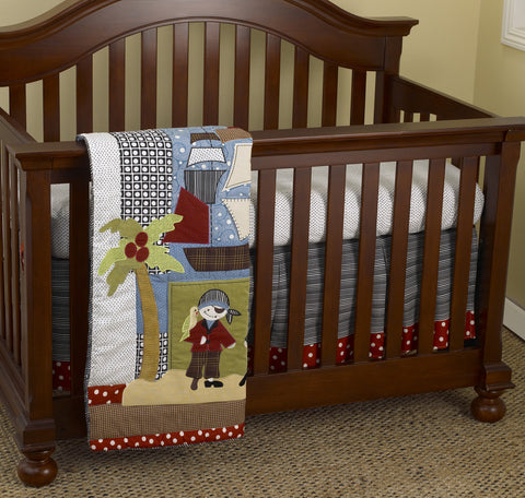 Pirate's Cove 3pc Crib Bedding Set