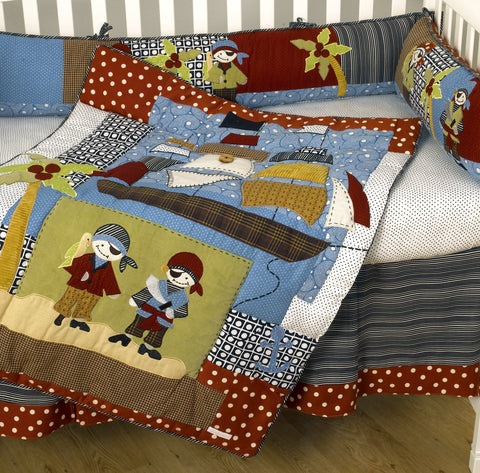 Pirate's Cove 4pc Crib Bedding Set