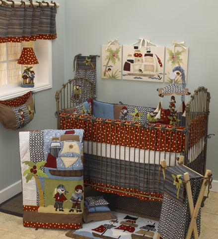 Pirate's Cove 7pc Crib Bedding Set